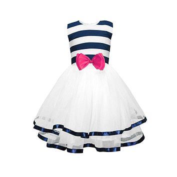 Little Girl's Striped Tutu Dress, Ages 2 Years to 9 Years