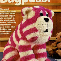 Bagpuss (sitting) Knitting  Pattern, PDF digital download, Saggy old cloth cat, Cat knitting pattern