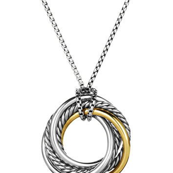 Crossover Small Pendant with Gold on Chain - David Yurman