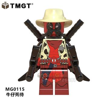 Deadpool Dead pool Taco TMGT 20PCS/LOT Super Heroes Sheriff  Building Blocks  2 Gwenpool Action Figures Children Gifts Toys AT_70_6