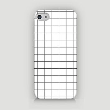 I Grid U - I Grid You - Grid Pattern - Hard Plastic Case for iPhone 5/5S - ALL SIDES PRINTED - YouniQ Art's Registered Design