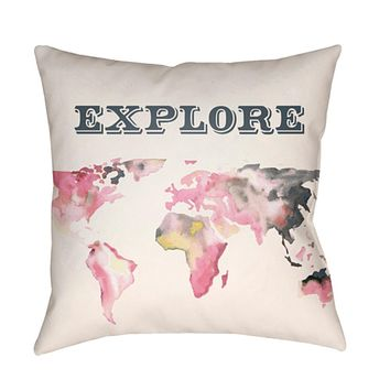 Jetset Pillow Cover - Bright Pink, Charcoal, White, Pale Pink, Bright Yellow - JT010