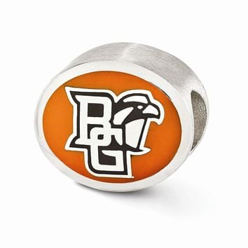 Sterling Silver Enameled Bowling Green State University Collegiate Bead