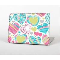 The Fun Colored Vector Pattern Hearts Skin for the Apple MacBook Air 13""