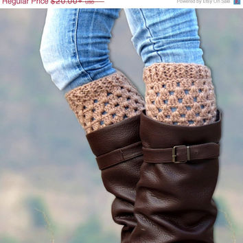 Winter discount sales Crochet Boot Cuff, Womens Boot Cuff, Boot Topper Faux, Womens Boot Socks Crochet Boot Cuff Boot Tops Hand Crocheted It