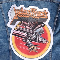 Judas Priest Giant Back patch , nice for vintage jacket or flannel shirt
