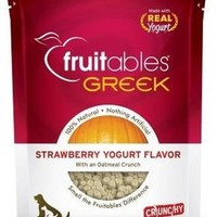 Fruitables Greek Strawberry Yogurt Crunchy Dog Treats 7oz