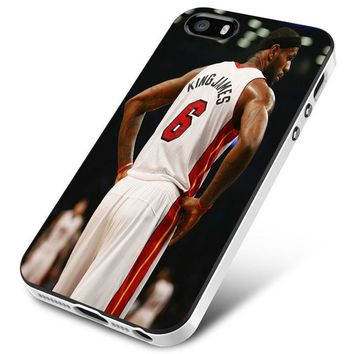 Lebron James jersey 6 white iPhone 5 | 5S | 5SE Case Planetscase.com