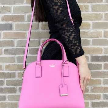 Kate Spade Cameron Street Lottie Satchel Crossbody Bag Pink