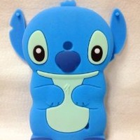 3D Blue Stitch & Lilo cute lovely Soft Silicone Case Cover For Nokia Lumia 520