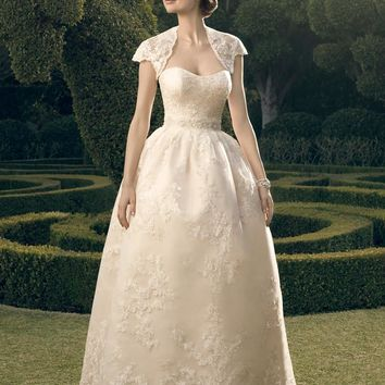 Casablanca Bridal 2182 Strapless Lace Ball Gown (No Jacket) Wedding Dress
