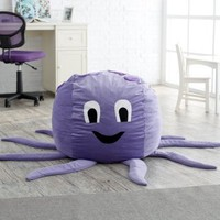 Octopus Critter Foam Bean Bag Chair - Bean Bag Chairs at Hayneedle