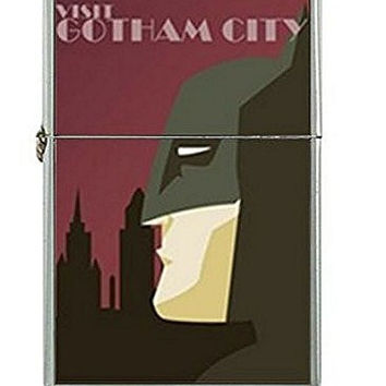 Batman and Gotham City (Vintage Look) Flip Top Lighter and Metal Gift Box