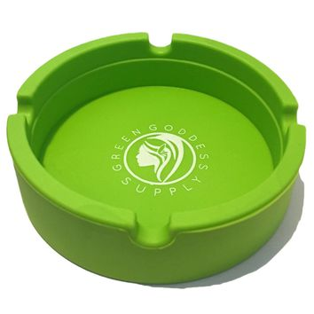 Round Silicone Ashtray - Green