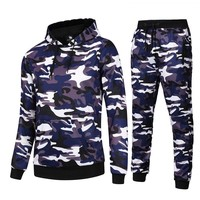 AIRAVATA Brand Clothing Mens Camouflage Tracksuit Stylish Sportswear Men Set Printed Sweatsuit Men 2018