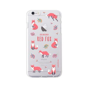 New Red Fox & Friends Artistic Soft Silicone iPhone Case