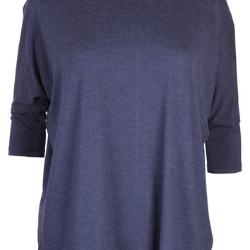 Ecru Navy Turtleneck Top