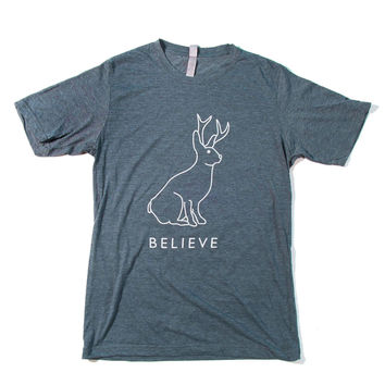 Believe In The Jackalope Men's T-shirt