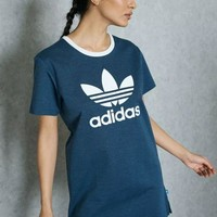 DCKKID4 Adidas Women Blue T-shirt Dress