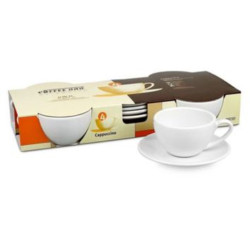Coffee Bar by Konitz No. 4. Cappuccino Cups in White (Set of 4)