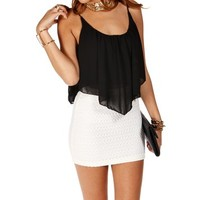 Pre-Order: Black Shirt Tail Crop Tank