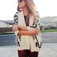 Aztec Tribal Print Cardigan