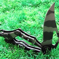 S.R. Unique Desert Camo Transformers Military Tactical Mechanical Folding Knife Best Buy, Best Choice for Survival, Fishing, Sailing, Craft, Hunting or Camping Gear