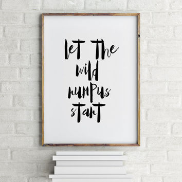 Instant Download,Monster print,Nursery Decor,Nursery Printable Where the wild things are baby,Nursery Print,Let the wild rumpus start