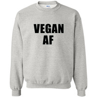 Vegan AF Shirt- Funny Vegan T Shirt for Men, Women, and Kids