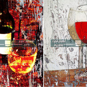 Wine Wall Art Set Prints, Kitchen Wine Décor, Gift For Wine Lover, Wine Photo Print, Art Sale, Dining Room Wall Art Print, Bar or Den Decor