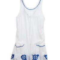 's Pretty Drop Waist Dress (White)