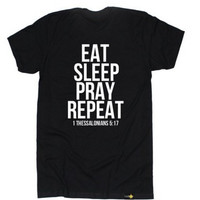 Christian T Shirt Radiate Apparel Men's Eat Sleep Pray Repeat