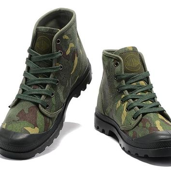 Palladium Pampa Hi Originale Tx High Boots Camouflage Green