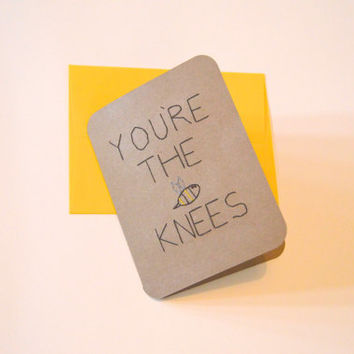 You're the Bees Knees card, hand-stitched card