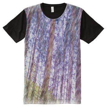 Forest photo drawing effect All-Over-Print shirt