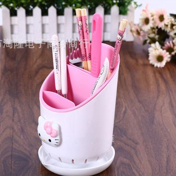 Hello Kitty Tableware Pencil Storage Box Office Organizer Kitchen Tableware Storage Boxes Holder container Girl's Gifts 2b
