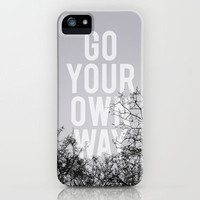 Go Your Own Way II iPhone Case by Galaxy Eyes | Society6