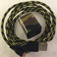 Iphone 6 / 6+ / 5 / 5s / 5c, Lightning Cable Usb Charger, fabric charger, usb, iphone 5, braided-nylon charger cord, super durable charger