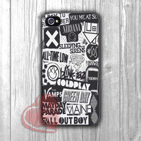 collage bands punks-nay for iPhone 6S case, iPhone 5s case, iPhone 6 case, iPhone 4S, Samsung S6 Edge