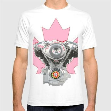 Portuguese Canadian Biker Hot Pink Culture. T-shirt by Tony Silveira