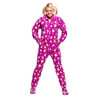Purple Duck Footed Pajamas