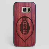 Cincinnati Reds Galaxy S7 Edge Case - All Wood Everything