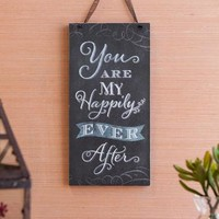 HAPPILY EVER AFTER 12X6 HANGING SIGN