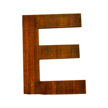 Wooden Letter E Wall Decor