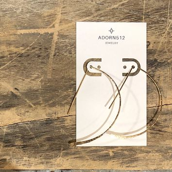 Adorn 512 - Arrow Earrings (Gold or Sterling Silver)
