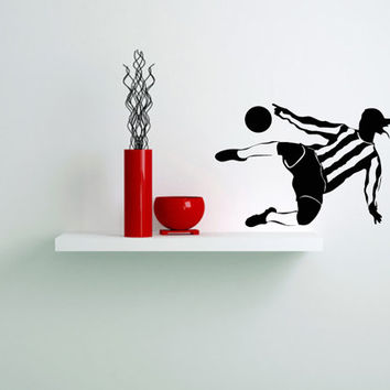 Wall Vinyl Decal Any Room Sport Football Player Housewares Mural Sticker V138