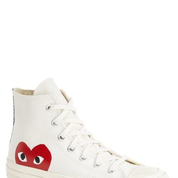 Comme des Garçons x Converse Chuck Taylor® 'PLAY - Hidden Heart' High Top Sneaker (Men) | Nordstrom