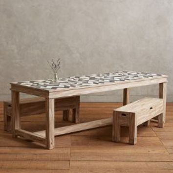 Sura Dining Table by Tracey Boyd Black One Size Furniture