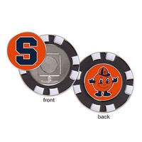 Licensed Syracuse Orangemen Official NCAA Golf Ball Marker With Poker Chip Set McArthur KO_19_1