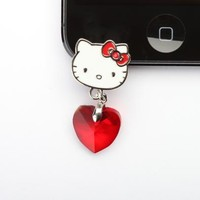 Hello Kitty iPhone 5 Jack Accessory: Red & Silver